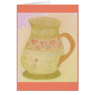 Fun Greeting Card Love Jug & World Round/Flat Joke