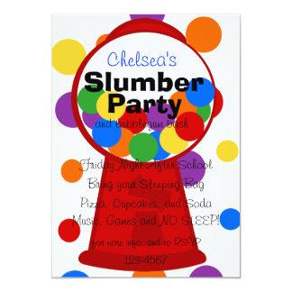 Fun Gumball Machine 13 Cm X 18 Cm Invitation Card