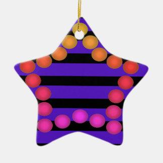 Fun Gumdrop Ornament Purple Black Star