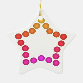 Fun Gumdrops Holiday Christmas Tree Decorations Ceramic Star Decoration