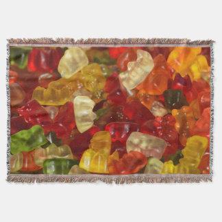 Fun Gummy Bears Design Throw Blanket
