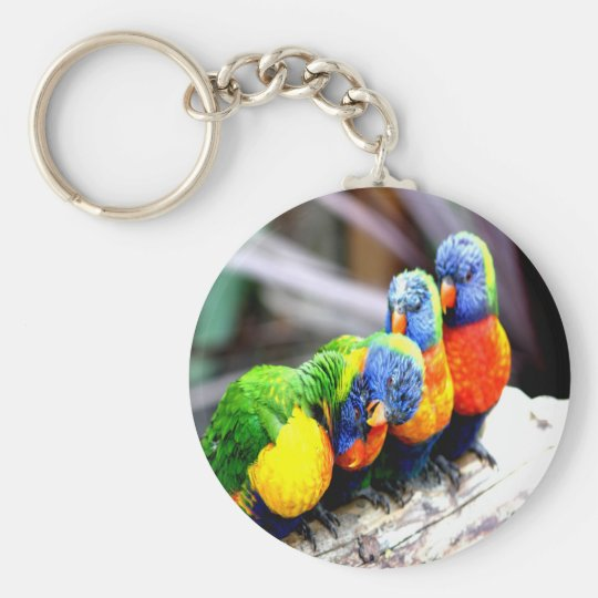fun guys best friends basic round button key ring