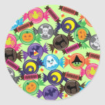 Fun Halloween Candy Classic Round Sticker