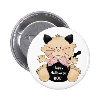 Fun Halloween Cat Costume Baby Girl Pin Button