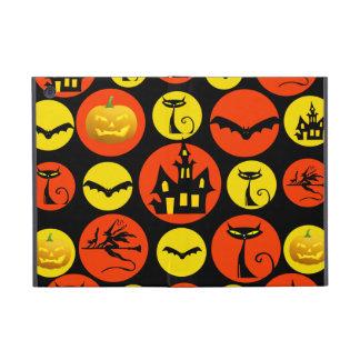 Fun Halloween Polka Dot Pattern Haunted House Cover For iPad Mini
