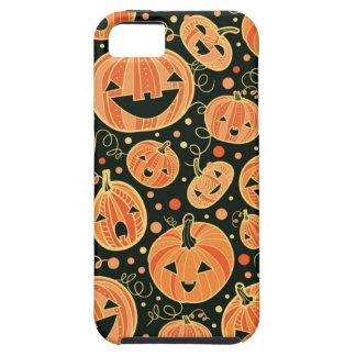 Fun Halloween Pumpkins Pattern Tough iPhone 5 Case
