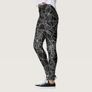 Fun Halloween spider web pattern leggings