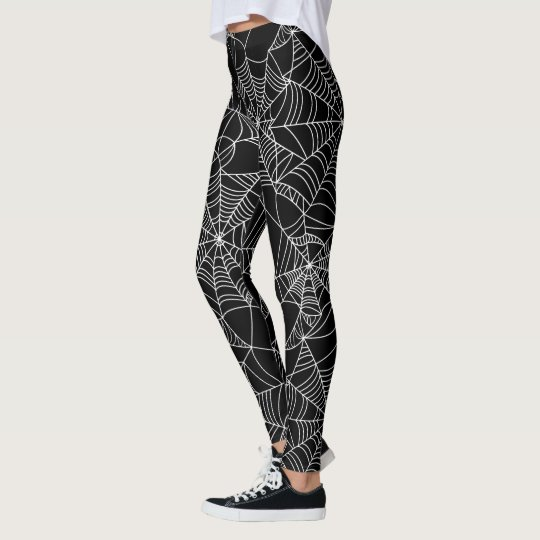 Fun Halloween spider web pattern leggings