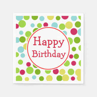 Fun Happy Birthday Napkins Disposable Serviettes