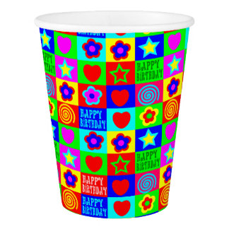 Fun happy birthday paper cup