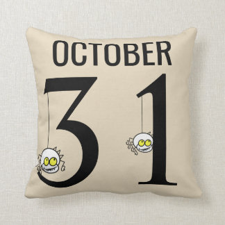 Fun Happy Halloween October 31st Cushion