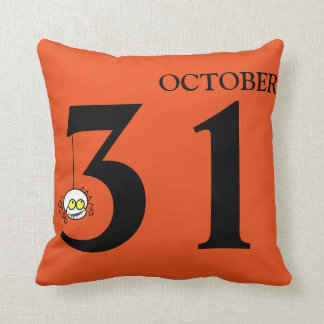 Fun Happy Halloween October 31st Throw Pillow