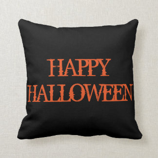 Fun Happy Halloween Trick or Treat Spider with Web Cushion
