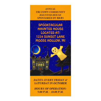 FUN HAUNTED HOUSE PROMOTIONAL Rack Cards