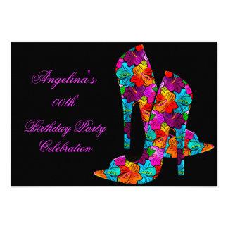 FUN High Heel Shoes Birthday Party Invites