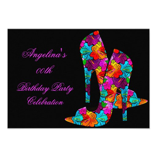 FUN High Heel Shoes Birthday Party Invites