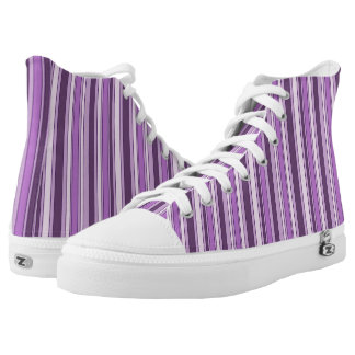Fun Hipster Purple Stripes Pattern High Tops