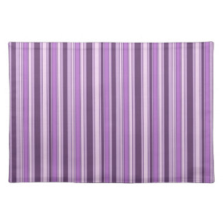 Fun Hipster Stripes Pattern in Shades of Purple Place Mat