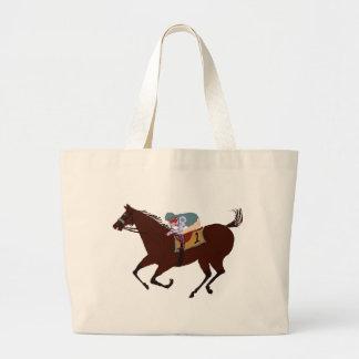 Fun Horse Racing Design Large Tote Bag