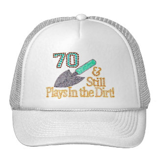Fun Humor Gardening 70th Birthday Gift for HER HIM Cap