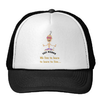 Fun, humour and comedy delivers a positive message mesh hat