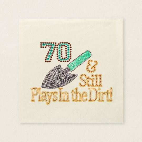 Fun Humour Gardening 70th Birthday Party Gift Paper Napkin