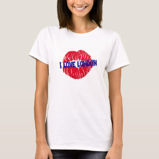 "Fun ""I Love London"" red lipstick kiss subway sign, T-Shirt"
