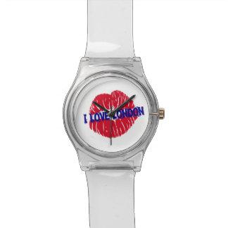 "Fun ""I Love London"" red lipstick kiss subway sign, Watch"