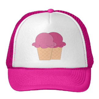 Fun Ice Cream cone Festival vendors hat
