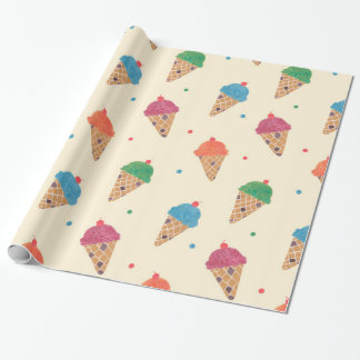 Fun Ice Cream Pattern Wrapping Paper