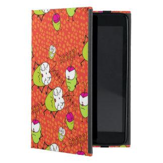 Fun illustrated Pulga pattern in red ipad case