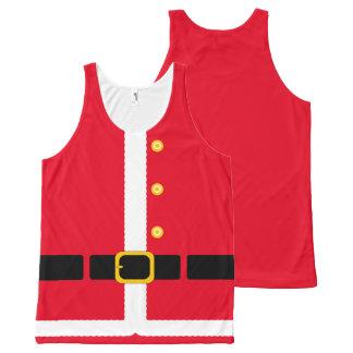 Fun imitation Christmas Santa Suit costume… All-Over Print Tank Top