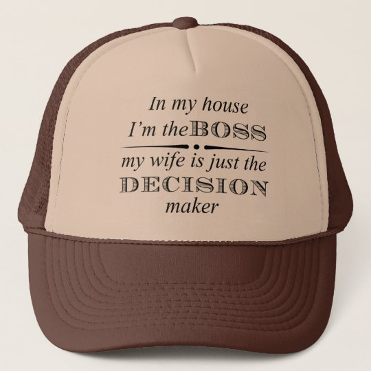 Fun--In My House I'm The BOSS Trucker Hat