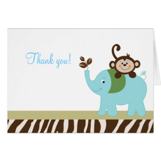 Fun in the Jungle Elephant Folded Thank you notes