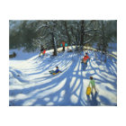 Fun in the snow Morzine France Canvas Print
