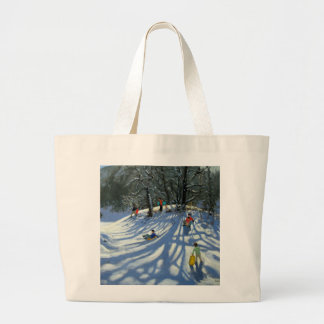 Fun in the snow Morzine France Large Tote Bag