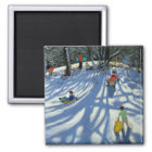 Fun in the snow Morzine France Magnet