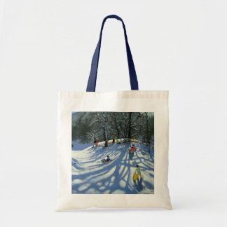 Fun in the snow Morzine France Tote Bag