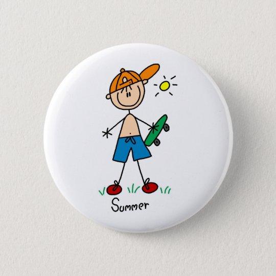 Fun In The Summer Sun Button
