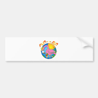Fun in the Sun Flamingo Bumper Sticker