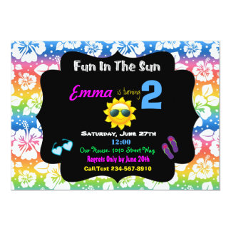 Fun In The Sun Invitation