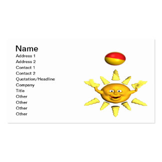 Fun In The Sun Pack Of Standard Business Cards