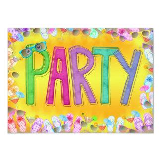 Fun In the Sun Party 11 Cm X 16 Cm Invitation Card