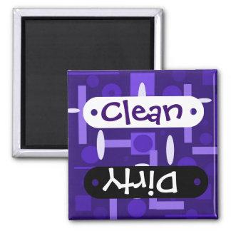 Fun Indigo Purple Blue Geometric Shapes Pattern Square Magnet