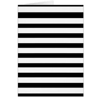 Fun Jailbird Black and White Striped Pattern Card