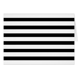 Fun Jailbird Black and White Striped Pattern Card