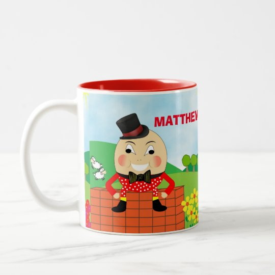 Fun Jolly Humpty Dumpty Cute Personalised Two-Tone Coffee
