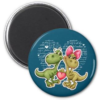 Fun Jurassic Love Valentine's Day Gift Magnets