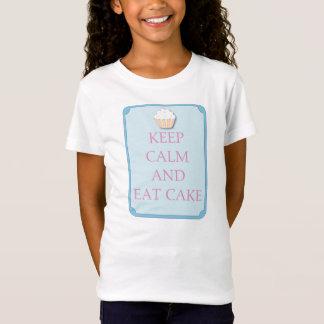 Fun Keep Calm and Eat Cake T Shirt