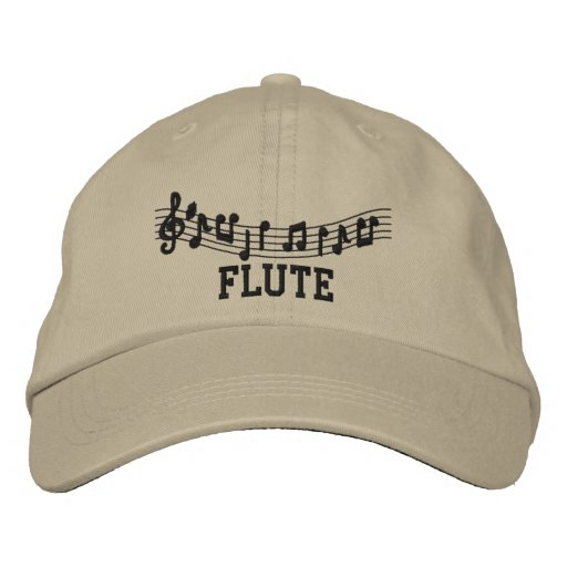 Fun Khaki Embroidered Flute Cap Embroidered Hat
